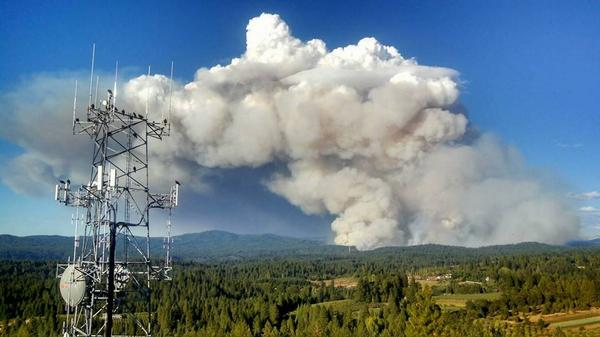 King Fire near Sacramento, CA